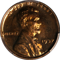 1937 LINCOLN CENT PROOF PCGS PR64RD  EYE APPEAL FANTASTIC LUSTER  STRIKE