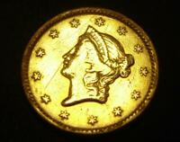 1853 $1 LIBERTY HEAD GOLD COIN ONE DOLLAR NICE