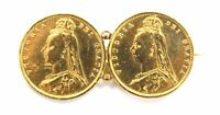 ANTIQUE QUEEN VICTORIA SIXPENCE GOLD PLATED BROOCH DATED 189