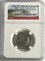 2019 W NGC MS66 AMERICAN MEMORIAL PARK QUARTER GREAT AMERICA