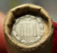 3 CENT NICKEL TAIL/1899 INDIAN ENDS MIXED ANTIQUE MOMS ROLL