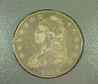 1834 BUST HALF DOLLAR FROM OLD COLLECTION SHIPS FREE