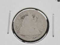 1875-P LIBERTY SEATED 90 SILVER DIME U.S. COIN D2673