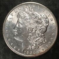 1904 MORGAN SILVER DOLLAR - HIGH QUALITY SCANS H495