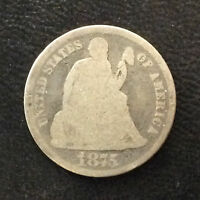 1875-P SEATED LIBERTY DIME SILVER U.S. COIN A4508
