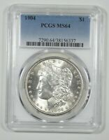 1904 MORGAN DOLLAR CERTIFIED PCGS MINT STATE 64 SILVER DOLLAR