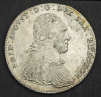 1791 SAXONY FREDERICK AUGUSTUS I. LARGE SILVER THALER COIN.