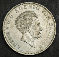 1831 KINGDOM OF SAXONY ANTHONY. LARGE SILVER CONVENTION THAL