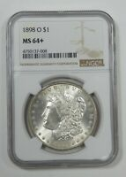 1898-O MORGAN DOLLAR CERTIFIED NGC MINT STATE 64 SILVER $