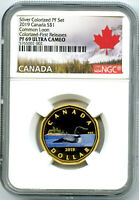 2019 $1 CANADA SILVER PROOF LOONIE DOLLAR NGC PF69 GILT COLO
