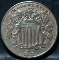 1871 SHIELD NICKEL IDJJ909