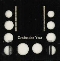 CAPITALHOLDER GRADUATION YEAR STATE QUARTERS CENT THROUGH SMALL DOLLAR 6X6 BLACK