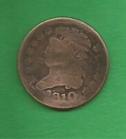 1810 CLASSIC HEAD HALF CENT   ONLY 215 000 MINTED 209 YEARS