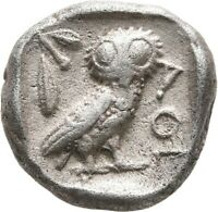 LANZ ATTICA ATHENS DRACHM ATHENA OWL CRESCENT OLIVE SILVER G