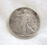 1917 WALKING LIBERTY HALF DOLLAR ALMOST UNCIRCULATED SILVER 50C