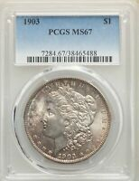 1903 US MORGAN SILVER DOLLAR $1 - PCGS MINT STATE 67
