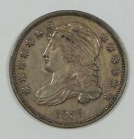 1831 CAPPED BUST SILVER HALF DIME EXTRA FINE 5C