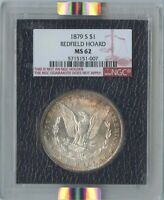 1879-S $1 MORGAN SILVER DOLLAR REDFIELD HOARD NGC MINT STATE 62