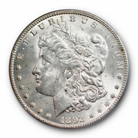 1892 $1 MORGAN DOLLAR PCGS MINT STATE 63 UNCIRCULATED BETTER DATE PHILADELPHIA MINT