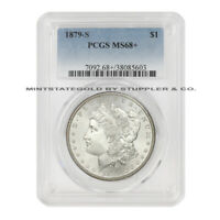 1879-S $1 MORGAN PCGS MINT STATE 68 GEM GRADED SILVER DOLLAR COIN TIED FOR FINEST KNOWN