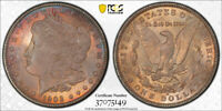 1903 O $1 MORGAN DOLLAR PCGS MINT STATE 65 UNCIRCULATED CAC APPROVED TONED