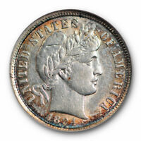 1894 BARBER DIME 10C NGC AU 55 ABOUT UNCIRCULATED BETTER DATE TOUGH
