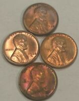 FOUR BU LINCOLN WHEAT CENTS, 2X 1938 AND 2X 1938-D.