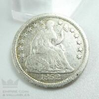 1852 SEATED LIBERTY HALF DIME VG CONDITION