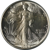 1944-S WALKING LIBERTY HALF OGH PCGS MINT STATE 64  EYE APPEAL FANTASTIC LUSTER