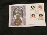 GUERNSEY1993  40TH ANNIVERSARY OF THE CORONATION COMMEMORATIVE 5.00 COIN COVER