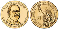 2012 P&D GROVER CLEVELAND 1ST TERM PRESIDENTIAL ONE DOLLAR COINS U.S. MINT ROLLS