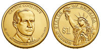 2014 P CALVIN COOLIDGE PRESIDENTIAL ONE DOLLAR COINS U.S. MINT ROLLS MONEY