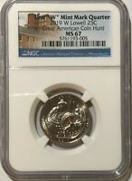 2019 W NGC MS67  LOWELL FIRST W QUARTER GREAT AMERICAN COIN