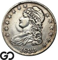1833 CAPPED BUST HALF DOLLAR NICE COLLECTOR COIN SILVER 50C