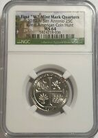 2019 W NGC MS64 TEXAS SAN ANTONIO MISSIONS QUARTER GREAT AME
