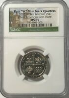 2019 W NGC MS65 TEXAS SAN ANTONIO MISSIONS QUARTER GREAT AME