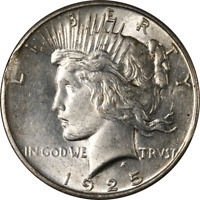 1925-P PEACE DOLLAR ERROR CLIPPED PLANCHET GREAT DEALS FROM THE EXECUTIVE COIN C