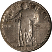 1916 STANDING LIBERTY QUARTER ANACS F12 DETAILS KEY DATE NICE EYE APPEAL