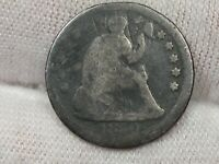 1860-O SEATED LIBERTY HALF DIME - WEAK.  4