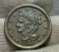 1855 BRAIDED HAIR HALF CENT -  ONLY 56,500 MINTED .  COIN 9160
