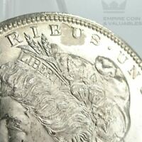 1889-S MORGAN SILVER DOLLAR BU LAMINATION ERROR OBVERSE