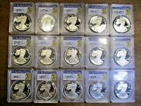 1986-2017 AMERICAN SILVER EAGLE DATE RUN SET THOMAS CLEVELAND 1 OF 3 SETS KNOWN