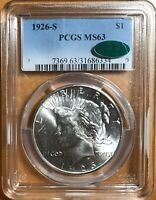 1926 S PEACE SILVER DOLLAR   MS63 PCGS/CAC