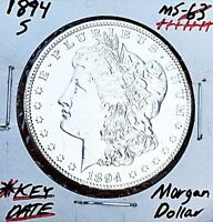 1894-S  GEM BU BRILLIANT UNCIRCULATED KEY DATE MORGAN DOLLAR. WOW Z9