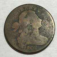 1802 DRAPED BUST LARGE CENT. AG, OK, JUST WORN. LOTUR5