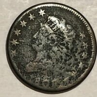 1808 CLASSIC HEAD LARGE CENT. GOOD, POROUS. LOTUD1 THE 2ND 8 IS WEAK