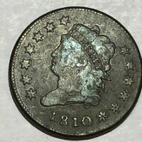1810 CLASSIC HEAD LARGE CENT. VG-F, LIGHT SURFACE ROUGHNESS. LOTQ3