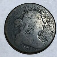 1801 DRAPED BUST LARGE CENT. AG-G, MINOR POROSITY.  LOTED2