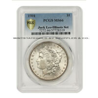 FINEST KNOWN 1901 $1 SILVER MORGAN DOLLAR PCGS MINT STATE 66 ILLINOIS SET &  JACK LEE