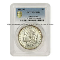 1893-O $1 SILVER MORGAN DOLLAR PCGS MINT STATE 64 CHOICE GRADED NEW ORLEANS ILLINOIS SET